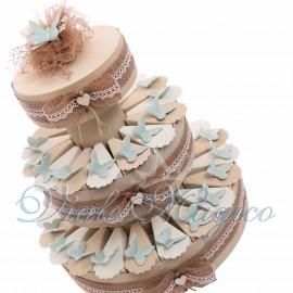 Bomboniere Matrimonio Tiffany Promessa Torta Shabby Magnete Farfalle Verde Menta