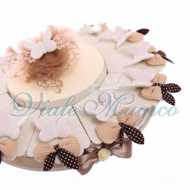 Maxi Torta con Farfalle Bianche