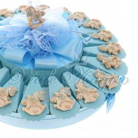 Bomboniere Nascita Battesimo Torta Confetti con Magnete Unicorno Star Bimbo