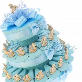 Torta Confetti con Portachiave Unicorno Star Bimbo
