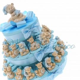 Torta Confetti Orsetto Night Bimbo