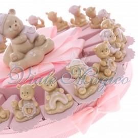 Bomboniere Nascita Battesimo Offerte Torta Confetti Orsetto Night Bimbo