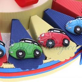 Bomboniere Compleanno Offerte Mini Couper Economiche Torta Confetti con Magnete Macchinina Color