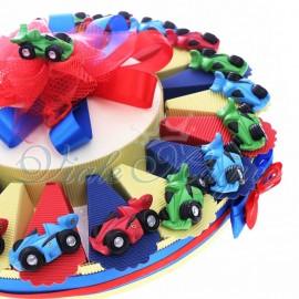Torta Confetti con Magnete Ferrari Color