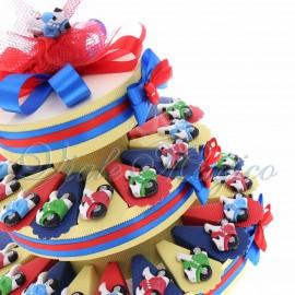 Torta Confetti con Magnete Motoclicletta Color
