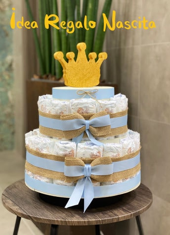 Idea Torta Pannolini Baby Shower Nascita